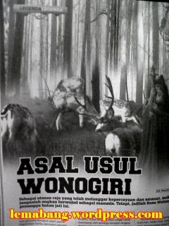 Asal Usul Wonogiri