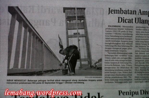 Jembatan Ampera Dicat Ulang