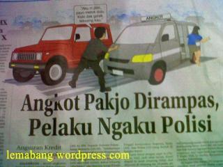 Angkot Pakjo Dirampas, Pelaku Ngaku Polisi