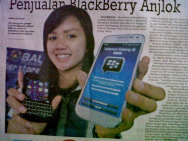 Penjualan BlackBerry Anjlok