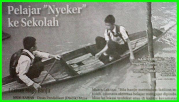 Pelajar Nyeker ke Sekolah