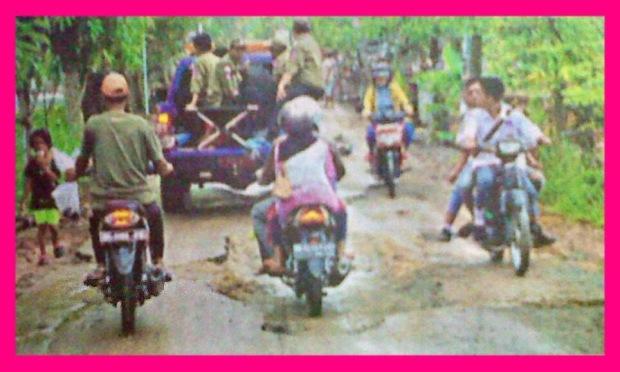 Pascabanjir, Jalan Poros Rusak Berat
