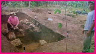 Penelitian Panjang Candi Lesung Batu Rawas Ulu
