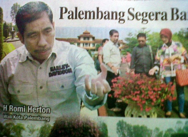 Palembang Segera Bangun Taman Bunga