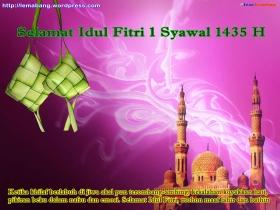 Wallpaper Ucapan Idul Fitri 1435 H by Lemabang 2008