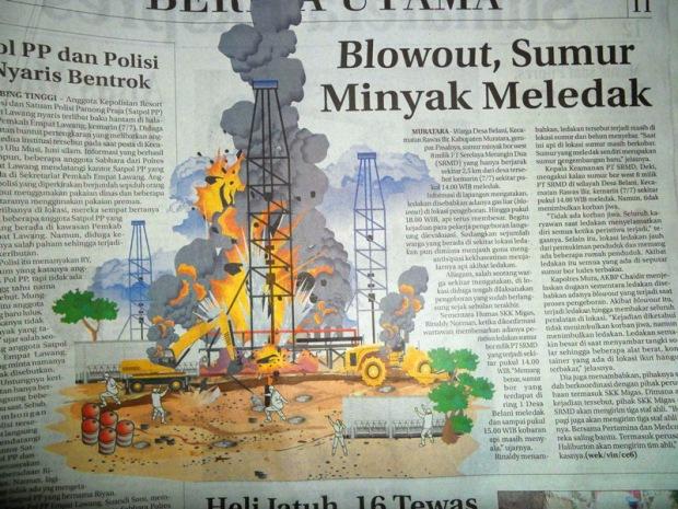 Blowout, Sumur Minyak Meledak | LEMABANG 2008 -- Berita, Photo, dan Wallpaper