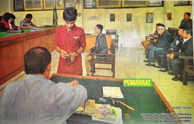 Melihat Sidang Tilang di PN Palembang