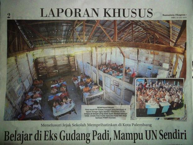 Menelusuri Jejak Sekolah Memprihatinkan di Kota Palembang
