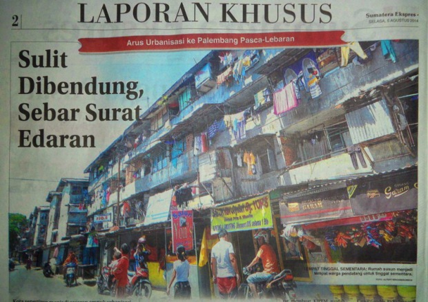 Arus Urbanisasi ke Palembang Pasca-Lebaran