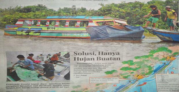 Asap Telan Korban di Sungai Musi