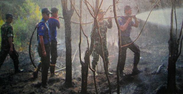 Lagi, 10 Hektare Lahan Terbakar