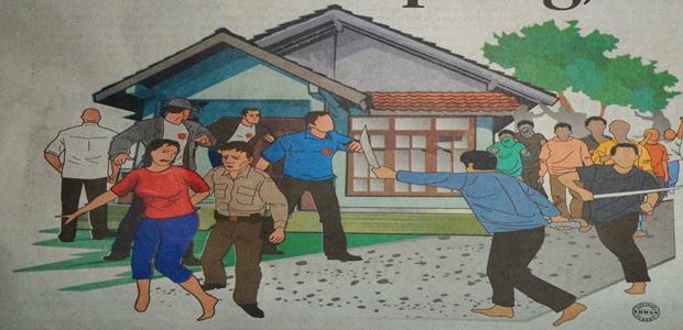 Polisi Dikepung, Diteriaki Maling
