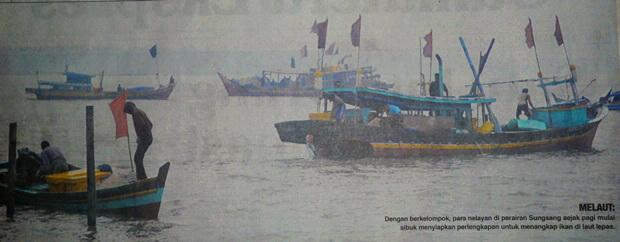 Melihat Aktivitas Kampung Nelayan Sungsang,  Kabupaten Banyuasin