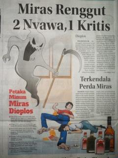 Miras Oplosan Renggut 2 Nyawa, 1 Kritis